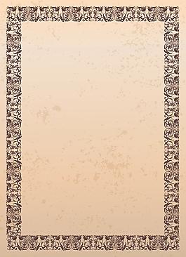 復古歐式邊框