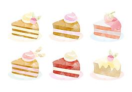 手繪水彩唯美蛋糕