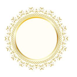 金色花邊元素