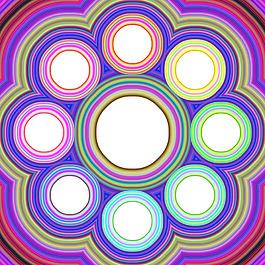 彩色圓形裝飾圖案背景