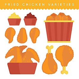 美味炸雞雞肉插圖大集合