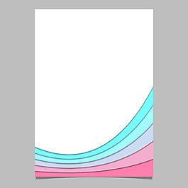 彩色波紋圖形背景矢量素材