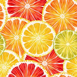 彩色橙子切片背景
