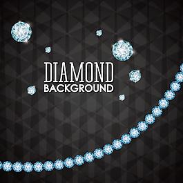 钻石装饰矢量背景素材