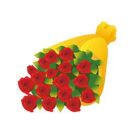 红色玫瑰元素