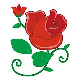 手绘玫瑰元素