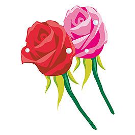 玫瑰绿叶元素