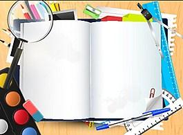 学习工具元素矢量图