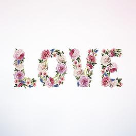 love2 玫瑰花矢量背景裝飾免扣設計素材