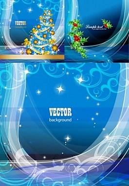 藍色圣誕節背景圖