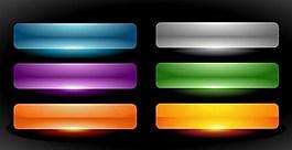彩色網頁按鈕設置矢量