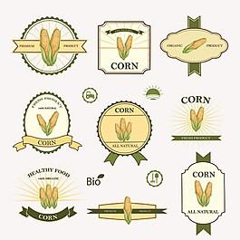 健康食物標貼背景素材