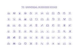 通用商业手机APP矢量图标集合
