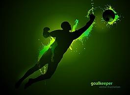 綠色足球運動員