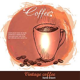 手绘复古咖啡