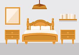 扁平化現代化臥室效果圖