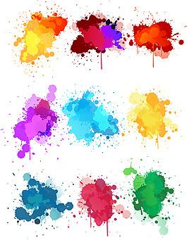 彩色水墨素材