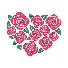 心形玫瑰元素