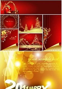 冬季圣誕節背景圖