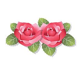 粉色玫瑰元素