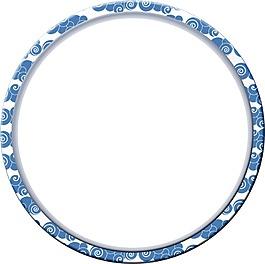 花紋圓形元素