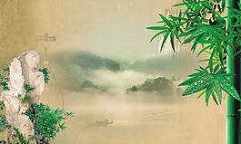 矢量中国风竹子设计