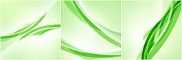綠色炫彩動感線條