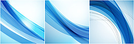 藍色動感線條