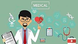 醫療醫院宣傳插畫