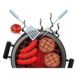 燒烤美味元素