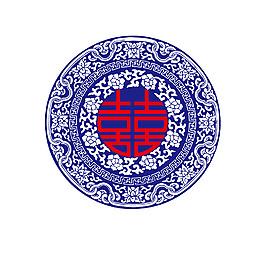 藍色青花瓷元素