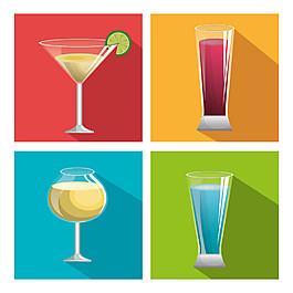四杯雞尾酒圖片