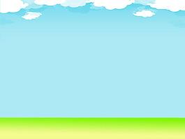 卡通清新藍天背景