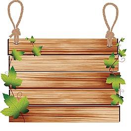 木板树叶元素