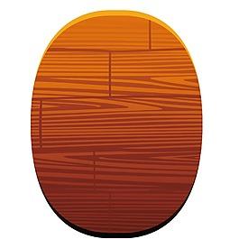 椭圆木纹纹理元素