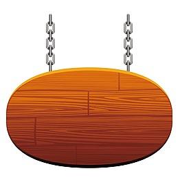 木纹纹理吊牌元素