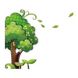 清新大樹元素