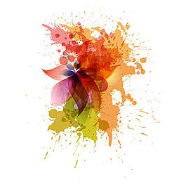 彩色水墨元素