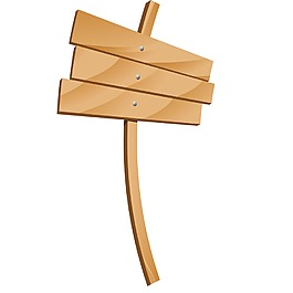 木板标牌元素