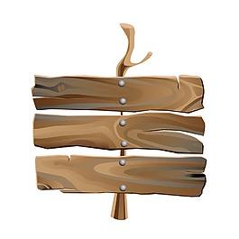 抽象木纹标牌元素