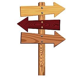 木板標識牌元素