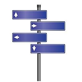 藍色標識牌元素