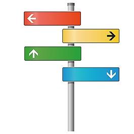 彩色標識牌元素