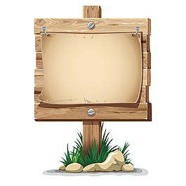 木纹纹理标牌元素