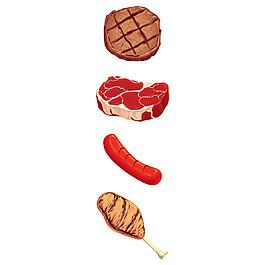 美味食物元素