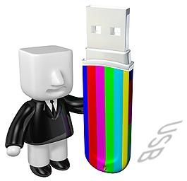 立体存储3D彩色U盘元素