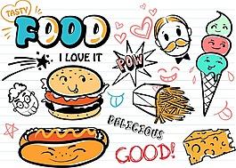卡通饼干食物素材设计
