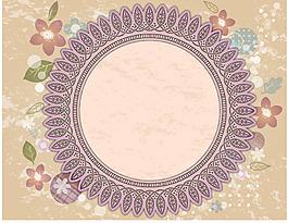 卡通花卉圓弧形花紋背景設計