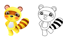 卡通熊玩具素材设计