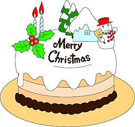 卡通圣誕節元素蛋糕設計